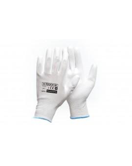 RĘKAWICE ochronne powlekane PU X-TOUCH WHITE