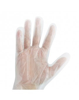 Rękawiczki foliowe HDPE extra mocne 100 sztuk